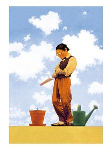 Spring Planting by Maxfield Parrish