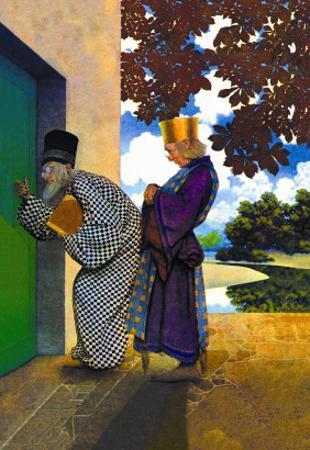 The Chancellor and Pompdebile by Maxfield Parrish