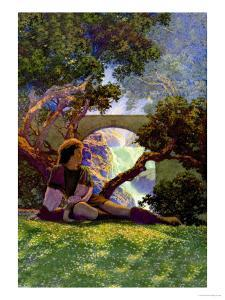 The Knave of Hearts in the Meadow by Maxfield Parrish
