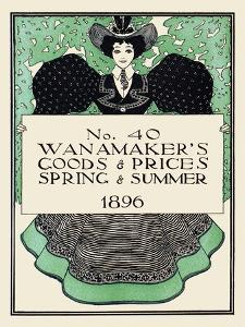 Wanamaker's Goods & Prices, Spring & Summer 1896 by Maxfield Parrish