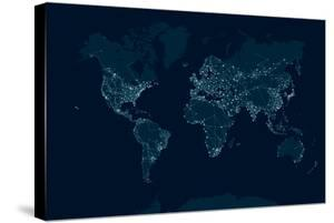 Communications Network Map of the World by Maxger