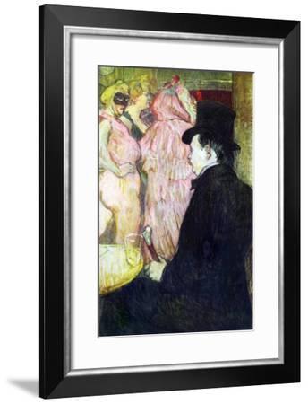 Maxim Dethomas-Henri de Toulouse-Lautrec-Framed Art Print