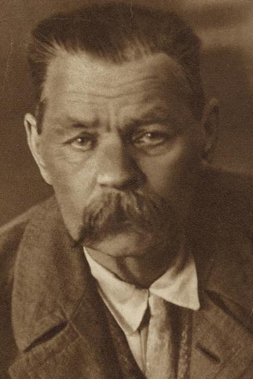 Maxim Gorky, Russian Writer--Photographic Print