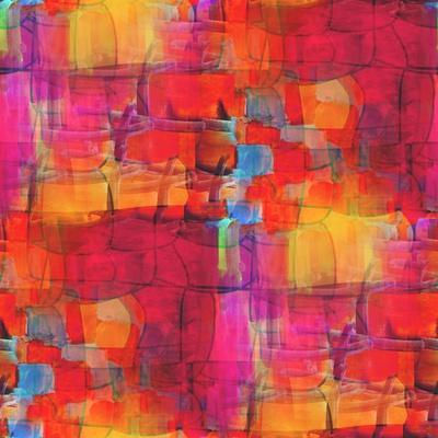 Artist Watercolor Yellow Red Purple Background,