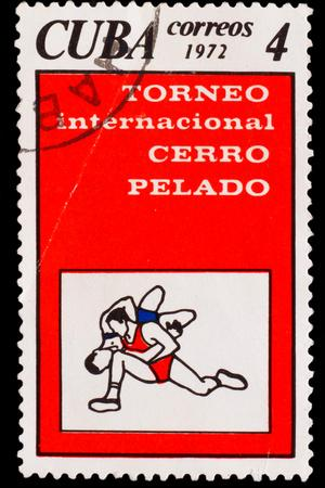 CUBA - CIRCA 1972: A Stamp Printed by Cuba, Shows Bare Hill Inte