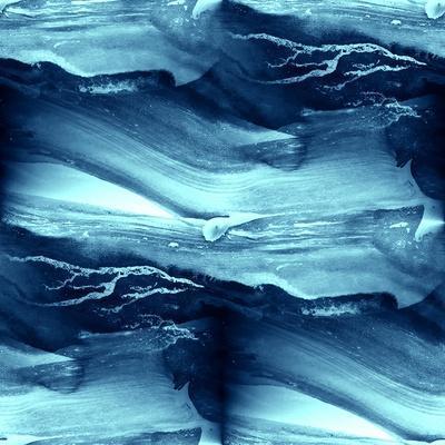 Water Blue Sea Waves Watercolor
