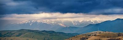 Spring Storm, Rain and Clouds in Carpathian Mountains