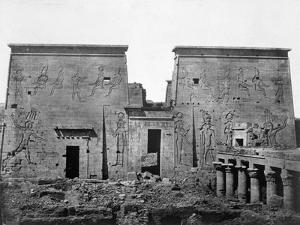 Temple of Philae, Nubia, Egypt, 1852 by Maxime Du Camp