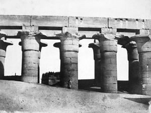 Temple Ruins, Egypt, 1852 by Maxime Du Camp