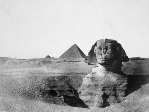 The Great Sphinx and the Pyramids of Giza, Egypt, 1852 by Maxime Du Camp