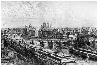 Paris Pris Du Louvre, C1850-1895