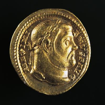 Maximian Hercules Aureus Bearing Head of Maximian, Roman Coins AD--Giclee Print