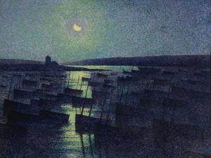 Camaret, Moonlight and Fishing Boats, 1894 by Maximilien Luce