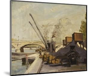 Cranes on the Seine by Maximilien Luce