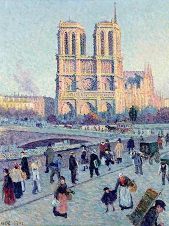 Le Quai St. Michel and Notre Dame, 1901