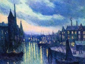 The Port of Rotterdam at Night, 1908 by Maximilien Luce