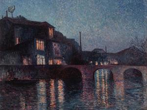 The River Sambre in Charleroi, 1896 by Maximilien Luce