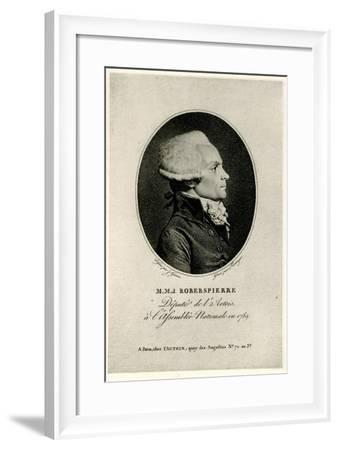 Maximilien Marie Isidore De Robespierre, 1884-90--Framed Giclee Print