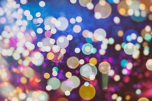 Festive Background with Natural Bokeh and Bright Golden Lights. Vintage Magic Background with Color by Maximusnd