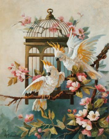 Cockatoo and Blossoms by Maxine Johnston