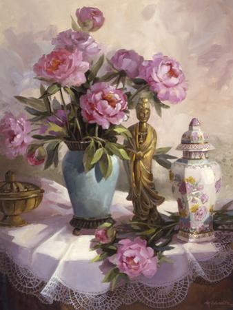 Pink Peonies by Maxine Johnston