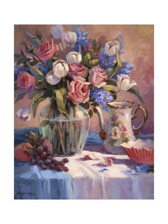 White Tulips & Roses