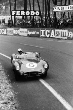 Aston Martin DBR1 in Action, Le Mans 24 Hours, France, 1959