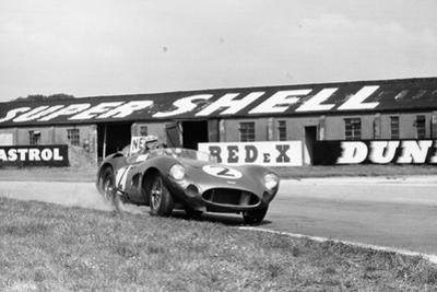 Carroll Shelby Driving Aston Martin Dbr1, Tt Race, Goodwood, Sussex, 1959