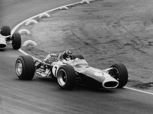 Graham Hill in a Lotus 49, French Grand Prix, Le Mans, 1967 by Maxwell Boyd