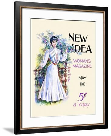 May 1905 New Idea Woman's Magazine- New Idea-Framed Art Print