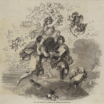 May, an Allegorical Design by W Harvey--Giclee Print
