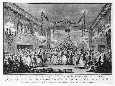 May Ball at Versailles During the Carnival of 1763-Francois Nicolas Martinet-Giclee Print