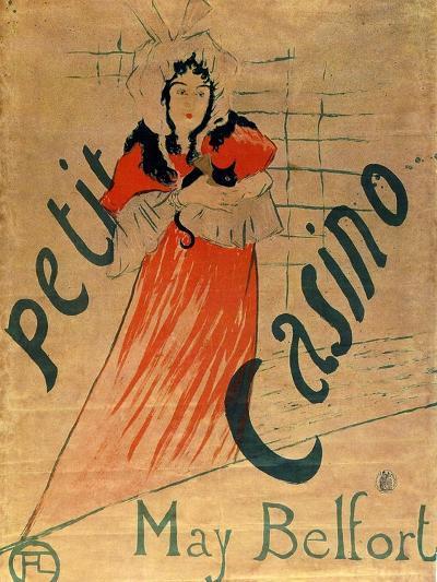 May Belfort, Petit Casino, 1895-Henri de Toulouse-Lautrec-Giclee Print