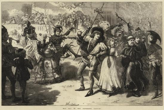 May Day in the Fifteenth Century-Charles Joseph Staniland-Giclee Print