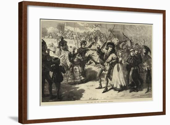 May Day in the Fifteenth Century-Charles Joseph Staniland-Framed Giclee Print