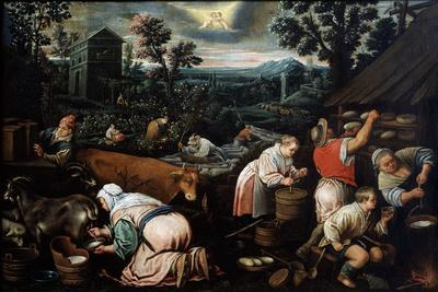 May (From the Series 'The Seasons), Late 16th or Early 17th Century-Leandro Bassano-Giclee Print