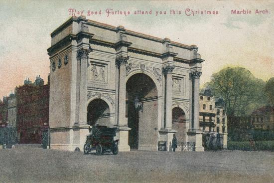 'May good fortune attend you this Christmas - Marble Arch', c1910-Unknown-Photographic Print