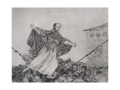 May the Cord Break, Plate 77 of 'The Disasters of War', 1810-14, Pub. 1863-Francisco de Goya-Giclee Print