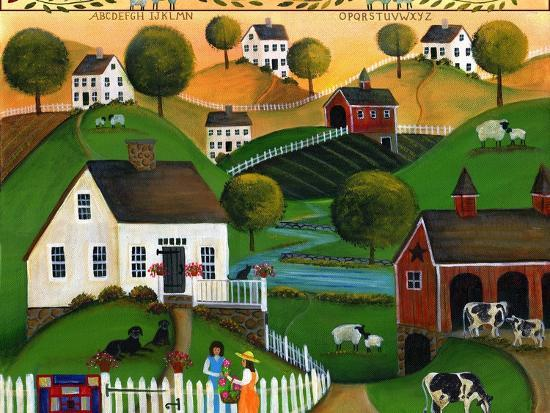 May Your Home Be Blessed with Many Friends Lang 2018-Cheryl Bartley-Giclee Print