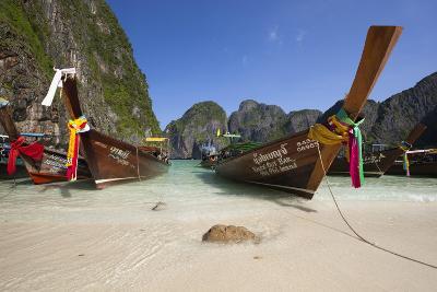 Maya Bay with Long-Tail Boats, Phi Phi Lay Island, Krabi Province, Thailand, Southeast Asia, Asia-Stuart Black-Photographic Print