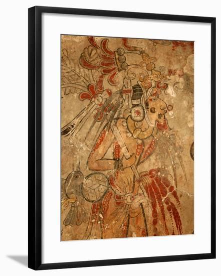Maya Mural, San Bartolo, Guatemala-Kenneth Garrett-Framed Photographic Print