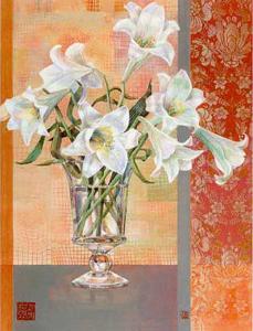 White Lilies by Maya Nishiyama