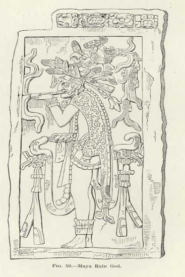 Maya Rain God--Giclee Print