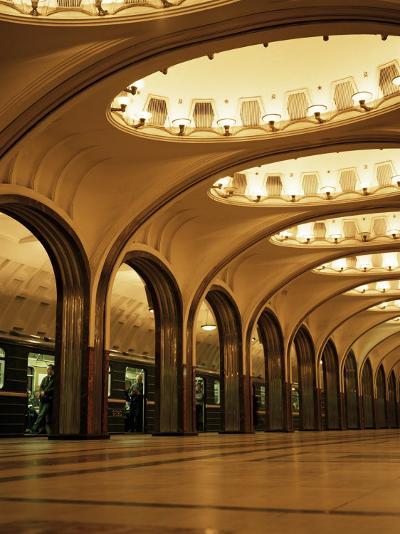 Mayakovskaya Metro Station, Moscow, Russia-Christopher Rennie-Photographic Print