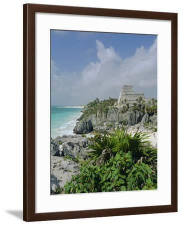 Mayan Archaeological Site, Tulum, Yucatan, Mexico, Central America-John Miller-Framed Photographic Print