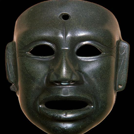 Mayan mask of polished stone-Unknown-Giclee Print