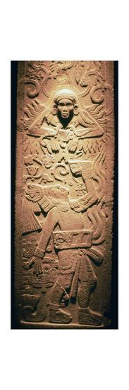 Mayan sculpture of a sun-god-Unknown-Giclee Print
