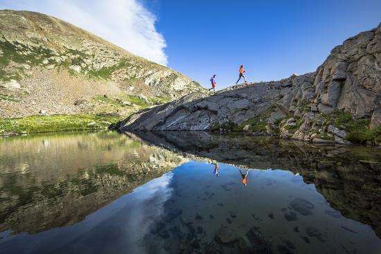 Mayan Smith-Gobat & Ben Rueck Go For High Elevation Trail Run, Backcountry Of Above Marble, CO-Dan Holz-Photographic Print