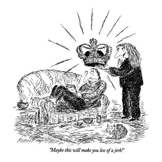"""Maybe this will make you less of a jerk!"" - New Yorker Cartoon-Edward Koren-Premium Giclee Print"