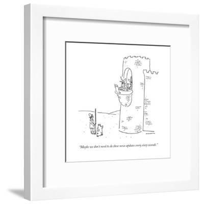 """""""Maybe we don't need to do these news updates every sixty seconds."""" - New Yorker Cartoon-Michael Maslin-Framed Premium Giclee Print"""